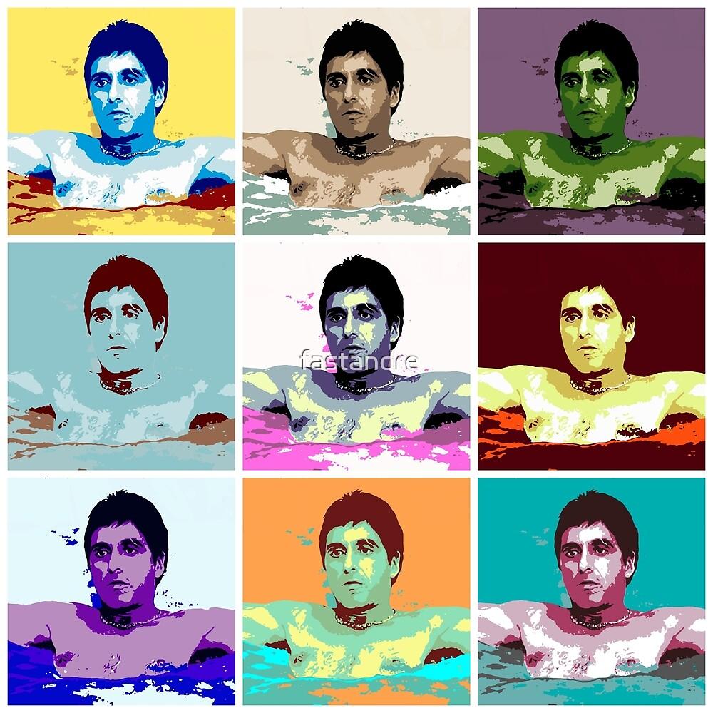 Scarface Tony Montana Al Pacino Warhol Pop Art by fastandre