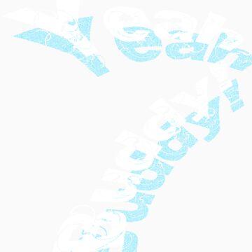 yeah buddy!- pop typography 2.1 blue by obguevara