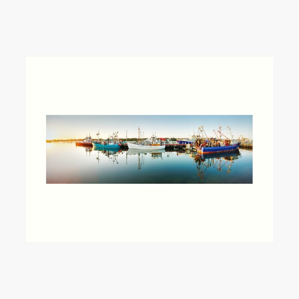 Lakes Entrance Boats, Gippsland, Victoria, Australia Art Print