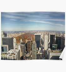 Central Park fromTop of the Rock Poster