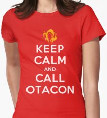 Keep Calm and Call Otacon Women's Fitted T-Shirt