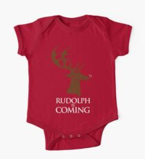 Rudolph is coming One Piece - Short Sleeve