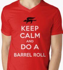 Keep Calm and Do a Barrel Roll Men's V-Neck T-Shirt
