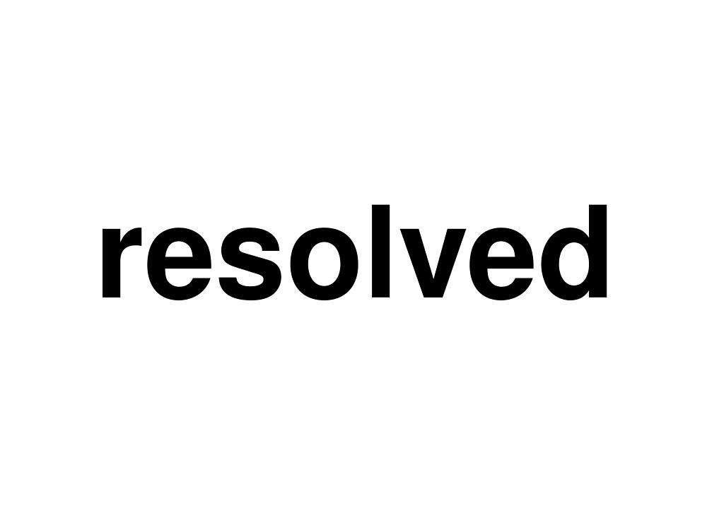 resolved by ninov94