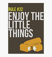 Zombie Survival Guide - Rule #32 - Enjoy the Little Things Photographic Print