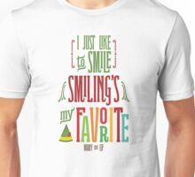 Buddy the Elf - Smiling's My Favorite! Unisex T-Shirt