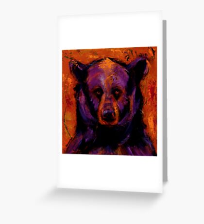 Black Bear People Are Dreamers II Greeting Card