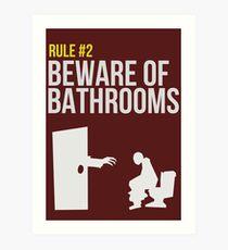 Zombie Survival Guide - Rule #2 - Beware of Bathrooms  Art Print