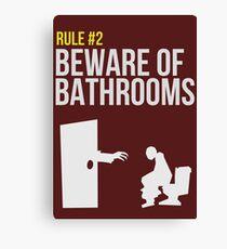 Zombie Survival Guide - Rule #2 - Beware of Bathrooms  Canvas Print