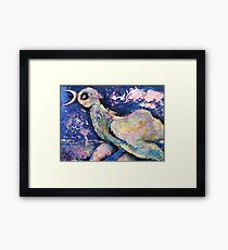 The Eh...moo Bird searching for a Mate Framed Print