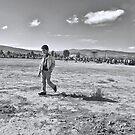 walking away by moun