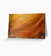 Golden Flows  Greeting Card