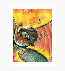 Colibri and company Art Print