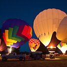 Hot Air Balloon Burn Off  by Chuck Gardner