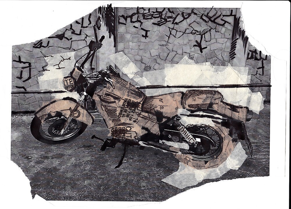 Collage Motorbike by Steampunkd