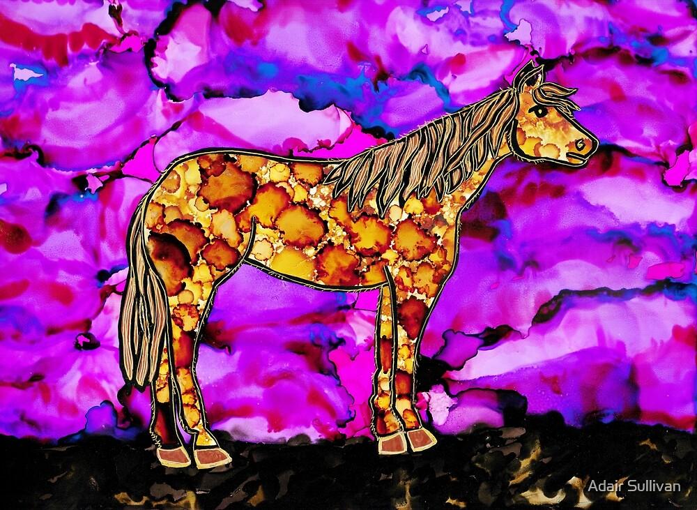 Pony on Purple by Adair Sullivan (Ó Súilleabháin)