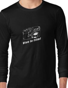 M3 - Vive le Film! - White Line Art Long Sleeve T-Shirt