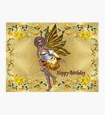 Happy Birthday (Golden Fairy) Photographic Print