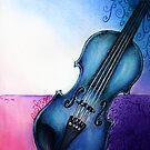 Blue Violin by yammybonbon