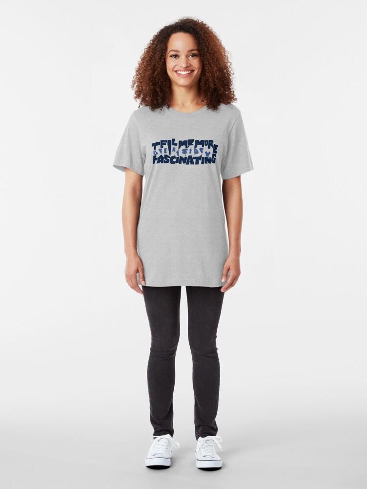 Alternate view of Hidden Sarcasm Slim Fit T-Shirt