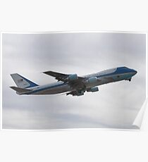 92-9000 Air Force One Taking Off Poster