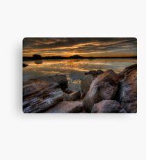 Sundown on the Rocks Canvas Print