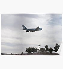92-9000 Air Force One Over Palm Trees Poster