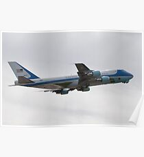 92-9000 Air Force One side shot Poster