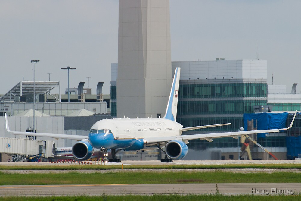 90003 Air Force Two Boeing VC-32A 757-2G4 Head On Taxi by Henry Plumley