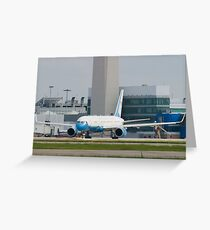 90003 Air Force Two Boeing VC-32A 757-2G4 Head On Taxi Greeting Card