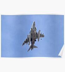 AV8B Harrier On Approach Belly Shot Poster