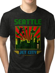 SEATTLE - JET CITY Tri-blend T-Shirt