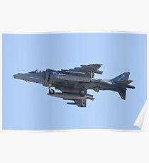 Side Shot AV8B Harrier Poster