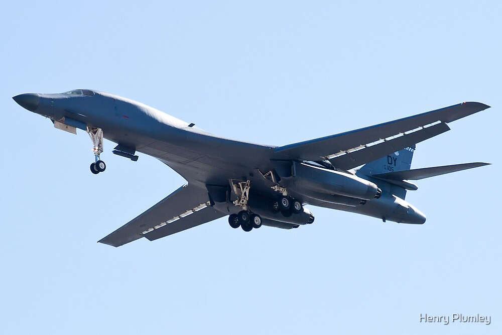 B-1B Bomber DY AF 85 105, on Approach by Henry Plumley