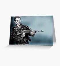 Portrait of a Gun Enthusiast Greeting Card