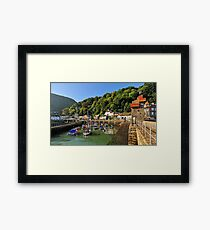 Lynmouth Harbour, Lynmouth, Devon, UK Framed Print