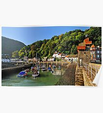 Lynmouth Harbour, Lynmouth, Devon, UK Poster