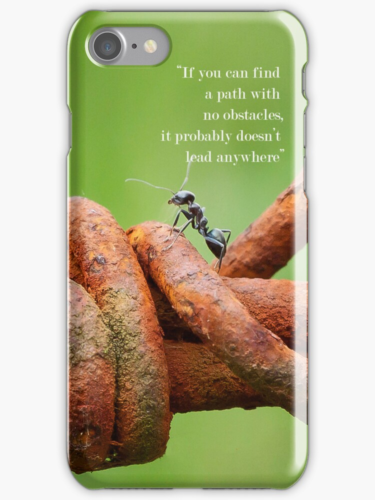 obstacles Iphone cover by Darren Clarke