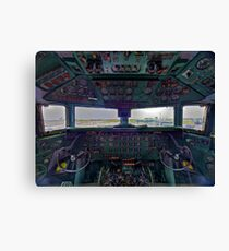 DC7B Cockpit Canvas Print