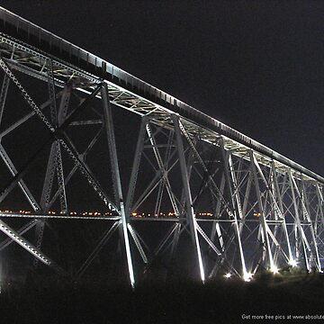 High Level Bridge with Centennial lights 1909-2009 by wpbmca