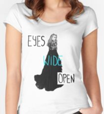 Eyes Wide Open-Sabrina Carpenter Women's Fitted Scoop T-Shirt