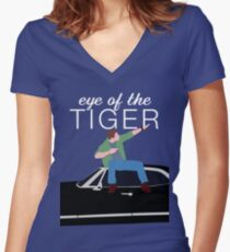 Supernatural - Eye of the Tiger Women's Fitted V-Neck T-Shirt