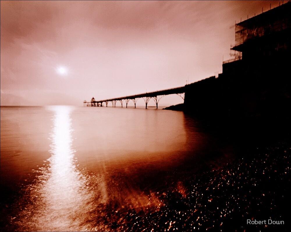 Clevedon pier pinhole camera image by Robert Down