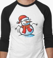 Shivering Snowman Men's Baseball ¾ T-Shirt