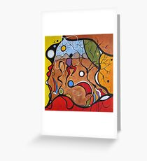 Crazy Rain Dance Greeting Card