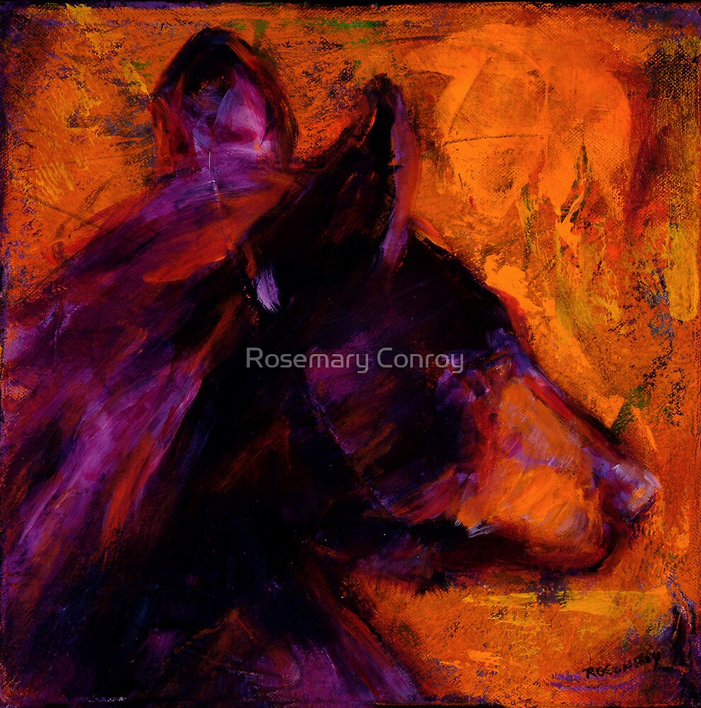 Black Bear People Are Dreamers III by Rosemary Conroy