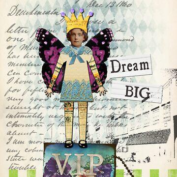 Vintage Collage Altered Art Dream Big Print by Gidget26