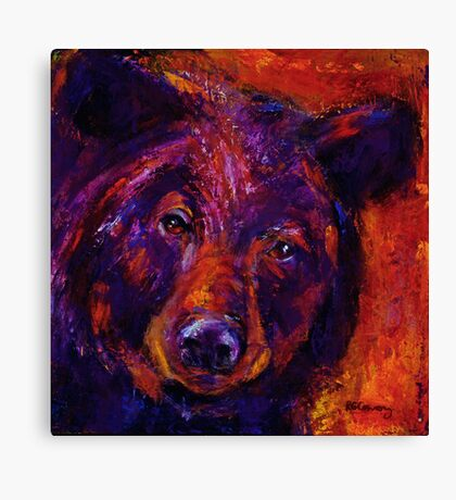 Black Bear People Are Dreamers I Canvas Print