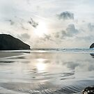 Trebarwith Strand Silver Sunset by David Wilkins