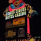 Circus Circus Neon Sign at Night by Henry Plumley